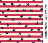 seamless pattern with usa flag. ... | Shutterstock .eps vector #688195798