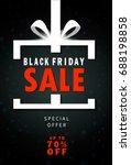 black friday sale inscription... | Shutterstock .eps vector #688198858
