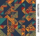big seamless african boho... | Shutterstock .eps vector #688198996