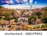 barcelona  catalonia  spain  ... | Shutterstock . vector #688199842