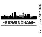 birmingham skyline silhouette... | Shutterstock .eps vector #688200202