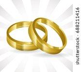 wedding ring icon | Shutterstock .eps vector #688211416