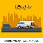 freight transportation and... | Shutterstock .eps vector #688214056