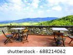 panoramic view of tuscany... | Shutterstock . vector #688214062