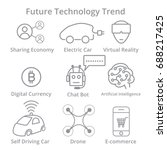 set of future technology trend... | Shutterstock .eps vector #688217425