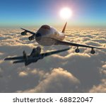 three dimensional  two planes... | Shutterstock . vector #68822047