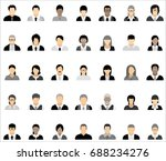 set of thirty five icons of... | Shutterstock .eps vector #688234276
