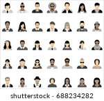 set of thirty five icons of... | Shutterstock .eps vector #688234282