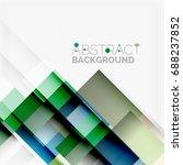 abstract vector blocks template ... | Shutterstock .eps vector #688237852