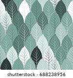 nature seamless pattern... | Shutterstock .eps vector #688238956