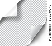 curly page corners set.... | Shutterstock .eps vector #688239346