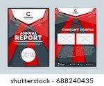 annual report cover design... | Shutterstock .eps vector #688240435