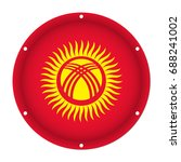 round metallic flag of... | Shutterstock .eps vector #688241002