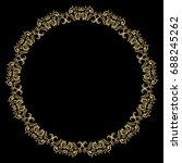 decorative line art frames for... | Shutterstock .eps vector #688245262