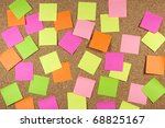 cork board with colored sticky...   Shutterstock . vector #68825167