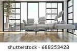 zero gravity  modern bright...   Shutterstock . vector #688253428