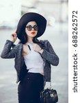 motional portrait of fashion... | Shutterstock . vector #688262572