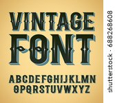 vector vintage label font.... | Shutterstock .eps vector #688268608