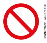 stop sign. stop icon. | Shutterstock .eps vector #688271518