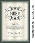 vector vintage frame cover | Shutterstock .eps vector #68827225