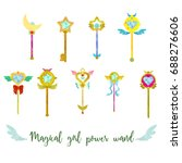 magical girl cute power wand...