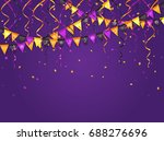 halloween violet background... | Shutterstock . vector #688276696