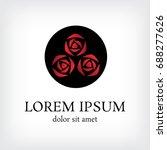 rose bouquet vector logo design ... | Shutterstock .eps vector #688277626