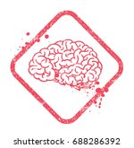 brain symbol. editable vector... | Shutterstock .eps vector #688286392