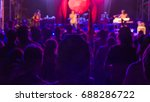 a man in concert crowd against...   Shutterstock . vector #688286722