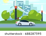 flat vector of a white electric ... | Shutterstock .eps vector #688287595