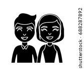 cartoon happy couple icon | Shutterstock .eps vector #688287892