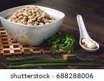 beans carioquinha  traditional... | Shutterstock . vector #688288006