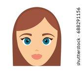 cartoon woman icon | Shutterstock .eps vector #688291156