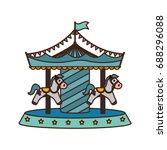 carrousel circus cartoon   Shutterstock .eps vector #688296088