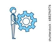 executive businessman cartoon | Shutterstock .eps vector #688296976