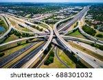 highway 183 and mopac... | Shutterstock . vector #688301032