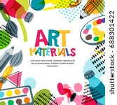 art materials for design and... | Shutterstock .eps vector #688301422