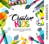 kids art  education  creativity ... | Shutterstock .eps vector #688302472