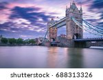 tower bridge at sunrise  in... | Shutterstock . vector #688313326