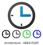 clock flat vector illustration. ... | Shutterstock .eps vector #688315285