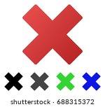 delete flat vector icon.... | Shutterstock .eps vector #688315372