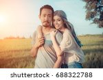 young couple in love .stunning... | Shutterstock . vector #688322788