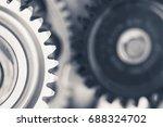 engine gear wheels  industrial... | Shutterstock . vector #688324702