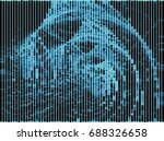 monochrome abstract background. ...   Shutterstock . vector #688326658