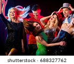 dance party with group people... | Shutterstock . vector #688327762