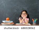 lovely pretty little kid girl...   Shutterstock . vector #688328062