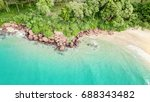 top view aerial image from... | Shutterstock . vector #688343482