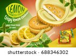 lemon sandwich cookies ad ... | Shutterstock .eps vector #688346302