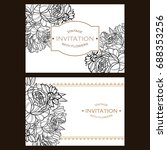 vintage delicate invitation... | Shutterstock . vector #688353256