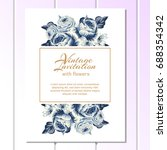 romantic invitation. wedding ... | Shutterstock . vector #688354342